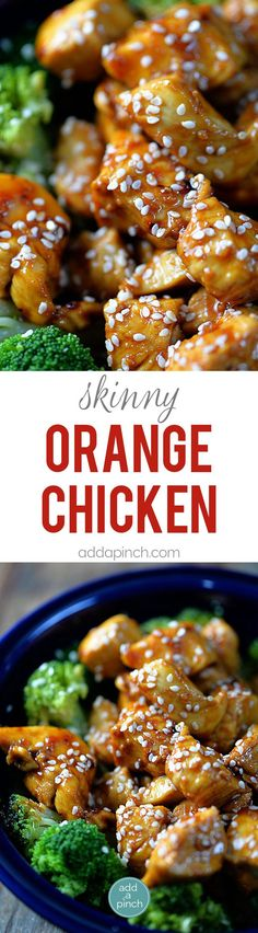 Orange Chicken makes a favorite Chinese dish. A lightened Orange Chicken recipe which is Paleo-friendly, gluten-free, and grain-free, yet full of flavor! // addapinch.com