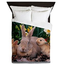 Queen Duvet Cover Spring Easter Bunny Rabbits http://www.easterdepot.com/queen-duvet-cover-spring-easter-bunny-rabbits/ #easter  Product Number: 0001-1540911322 Personalize your bedroom and protect your comforter with a queen duvet cover. You can rest in luxurious comfort under your soft duvet, and the only thing hard about it is getting up the next morning! * Duvet Size: 88″ x 88″ * 100% woven polyester * Soft fleece top, breathable microfiber underneath * Snap closure * Print is on..