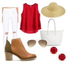 """Untitled #10"" by barbara-gonoss19 on Polyvore featuring RES Denim, Miista, Anne Klein and Ray-Ban"