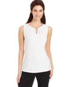 NEED A WHITE SHIRT FOR INTERVIEWS Reg. $49.00 Was $39.99 Sale $34.99 Sale ends 7/5/15 Pricing Policy EXTRA 15% OFF Enjoy 15% off select merchandise! CODE: FOURTH Tahari ASL Sleeveless Blouse