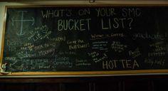 SMC Bucket List bulletin board Ra Boards, Res Life, Gatsby, Bulletin Boards, Bucket, Floor, Projects, Pavement, Log Projects