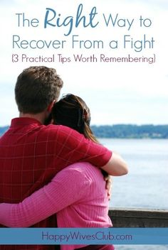 Disagreements in a marriage happen. Learn the right way to recover from a fight with grace and dignity the right way.