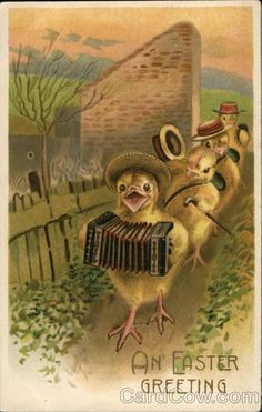 Divided Back Postcard An Easter Greeting With Chicks Easter Art, Easter Crafts, Vintage Greeting Cards, Vintage Postcards, Vintage Images, Easter Pictures, Easter Parade, Easter Printables, Holiday Postcards