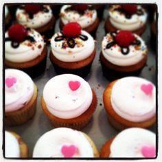 Strawberry Cupcakes & Banana Split cupcakes by Georgetown Cupcake