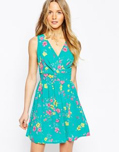 Wal G Wrap Front Dress in Floral