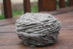 Natural Gray Overspun Handspun Wool Yarn $26 Kimberly Handspun Handwoven SHOP www.nywhitestonefarm.com #handmade #handspun #yarn #wool #knit #crochet #farm #gift #dyi #gray #overspun