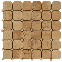 Beige Octagonal Mosaic Travertine Tile $9.99