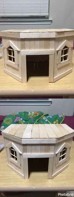 Quick DIY hamster hutch/ house made out of popsicle sticks