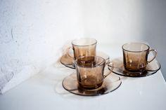 Vintage black cups -Duralex- (X3)