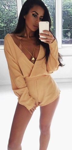 Apricot Playsuit                                                                             Source