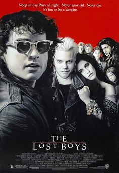 The Lost Boys (1987) - Jason Patric, Kiefer Sutherland. A family moves to a new town and finds the local gang is more dangerous than most. This was made in the '80s but it's still a stylish, gorgeous movie. The gang is hot and the Santa Cruz scenery will make you want to pack your bags. Sutherland is icy and dangerous but sexy enough to give Edward Cullen a run for his money (after he rips his head off and tosses it on a bonfire). The plot is laughable but the performances make it a classic.