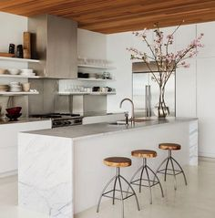Etc Inspiration Blog 13 Stunning Kitchens With Marble Countertops Waterfall Island Kelly Klein Home photo Etc-Inspiration-Blog-13-Stunning-K...