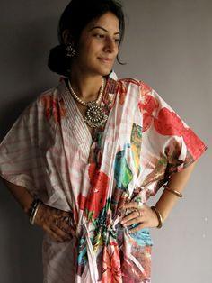 Let me paint kaftan  Perfect long dress beachwear by silkandmore