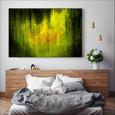 Large canvas art print, a stunning abstract canvas that makes a statement in a contemporary room.  Modern, sophisticated and definitely eye catching.     This print was shortlisted for the prestigious UK Digital Photographer of the Year!    TITLE: IN MY DREAMS     The Story behind the Image    Near the little Scottish town of Callander there are some ancient forests where the trees are very old and gnarled. In this secret quiet place there was a sense of calm and peace that made me feel as…