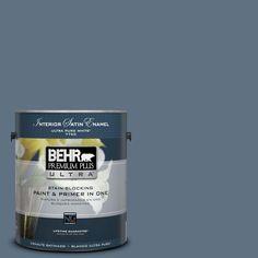 BEHR Premium Plus Ultra 1-gal. #560F-6 Windsor Haze Satin Enamel Interior Paint