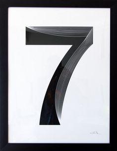 Seven Seven Logo, 7 Logo, Number Art, Open Water Swimming, Minimal Logo Design, Retail Logo, Seven Wonders, Graphic Design Inspiration, Lucky 7