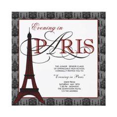 Evening in Paris invite.