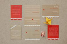 Cute DIY wedding invites