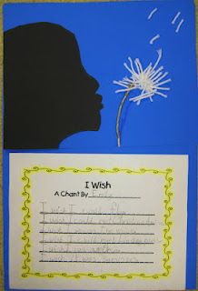 Really cute poetry and art idea on First Grade Wow blog