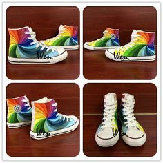 17 Best Colorful Colors Pattern Design Casual Sneakers images  accad0f8de97