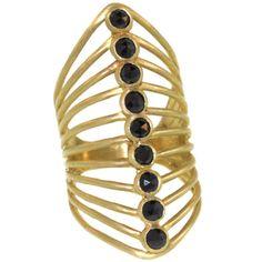 1stdibs.com   9 Stone Vertebrate Ring