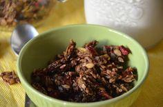 Paleo strawberry grain free breakfast cereal.