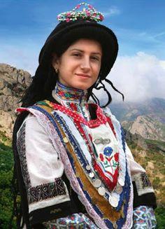 FolkCostume&Embroidery: Costume of the Sarakatsani or Karakachani, Greece Greek Traditional Dress, Traditional Outfits, Tribal Women, Folk Dance, Folk Costume, World Cultures, Festival Outfits, Fashion History, Fashion Outfits