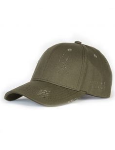 NVLTY London Distressed Curved cap - olive