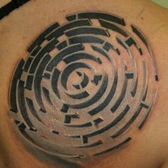 3D maze made at Sin City Tattoo studio.