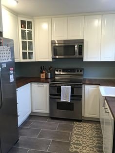 updated Kitchen, IKEA Bodbyn                                                                                                                                                     More