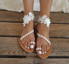 Wedding Sandals For Bride, Beach Wedding Shoes, Bridal Sandals, Bride Shoes, Summer Wedding, Bare Foot Sandals, Greek Sandals, Beach Sandals, Pearl Shoes
