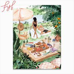 Wall Art Prints, Fine Art Prints, Canvas Prints, Canvas Artwork, France Art, Tropical Art, Beach Wall Art, South Of France, Picnic