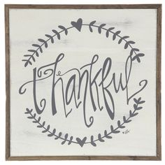 Get Thankful Wall Plaque online or find other Wall Art products from HobbyLobby.com