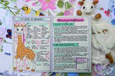 Liste de naissance et allaitement dans le Bullet Journal