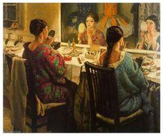 The Dressing Room, 1924 - Dame Laura Knight (British, Newlyn School Illustrations, Illustration Art, Munier, Knight Art, English Artists, British Artists, Portraits, Art For Art Sake, Artist Gallery