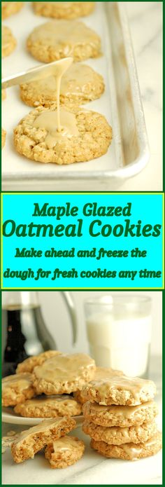 The best oatmeal cookie you'll ever taste! The maple glaze adds an extra layer of delicousness.