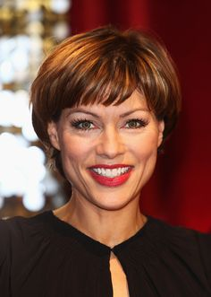 Kate Silverton Short Cut With Bangs - Kate Silverton wore a short and sweet 'do with wispy bangs at the British Soap Awards.