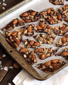 Salted Almond & Coconut Bark (low-carb & sugar-free, keto, paleo, vegan)