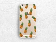 iPhone 6/6s, Samsung S6 Note 5 transparent hard case, ultra slim Pineapple pattern clear soft rubber case for iPhone 5C, HTC One M9 M8 - A1