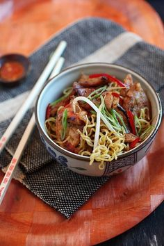Super Delish Sweet and Sour Pork Noodles – sweet and sour flavor, with pork and noodles.Your tummy will be happy with this tried and tested recipe.   rasamalaysia.com