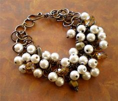 Hippy Hippy Shake Ivory Pearl Bracelet - Beading Daily.  Use bright colors for summer.