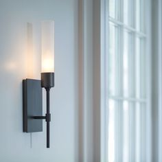 Modern 2 Way Black Chrome Twin Branch Arm Wall Light with Elegant Clear and Frosted Light Diffusing Glass Shades