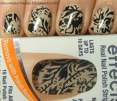 Reading this review from Nouveau Cheap sold me - I want to try these Sally Hansen Salon Effects Nail polish strips!