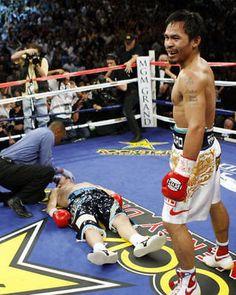 MANNY PACQUIAO VS. RICKY HATTON PRO BOXING 8x10 PHOTO TKO