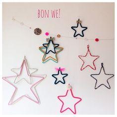 DIY // Etoiles tricotin ou cordon liberty #stars ✿Teresa Restegui http://www.pinterest.com/teretegui/✿