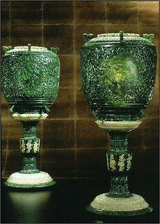 Carved Nephrite (Jade) Chinese Lanterns
