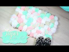 DIY - FACILE : TAPIS EN POMPONS / TAPIS DE LIT COCOONING - pompom rug (e...