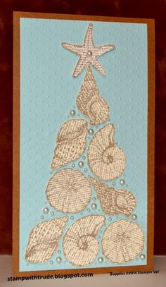 created by Trude Thoman, stampwithtrude.blogspot.com , By the Seashore, Stampin' Up!, Christmas tree card