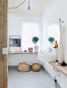 Come arredare il bagno in stile naturale - Bagno luminoso