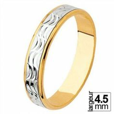 Alliance de mariage Or blanc et Or jaune - 04030919B